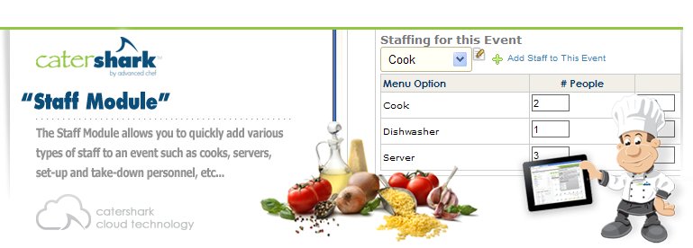 Catering Staffing Module